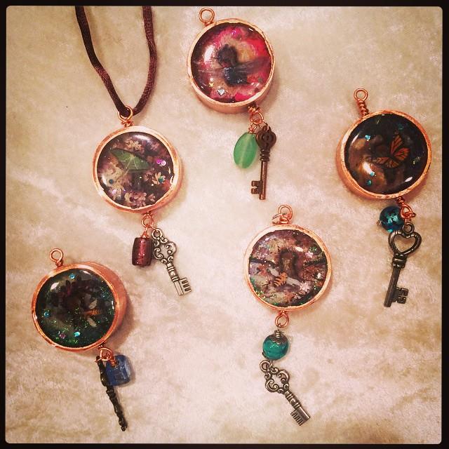 "Pipe Dream Pendants: Reverse side of ""Keyholes"""