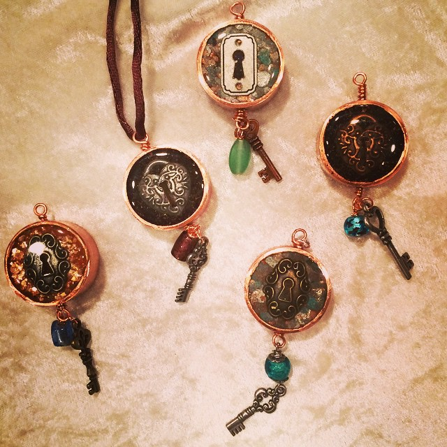"Pipe Dream Pendants: ""Keyholes"""