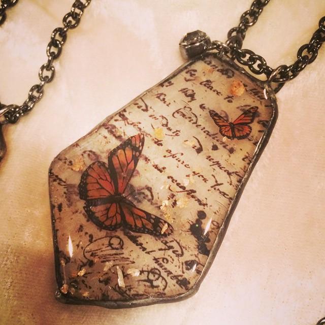 Sea Glass Pendant - Monarch
